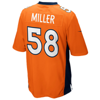 Nike NFL Game Day Jersey - Men's - Von Miller - Denver Broncos - Orange / Navy