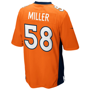 Nike NFL Game Day Jersey - Men's - Von Miller - Denver Broncos - Brilliant Orange