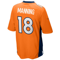 Nike NFL Game Day Jersey - Men's - Peyton Manning - Denver Broncos - Orange / Navy