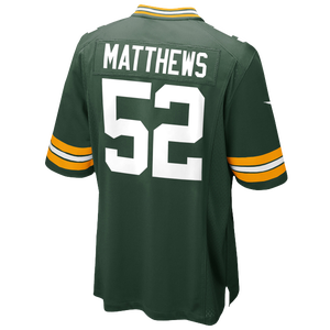 Nike NFL Game Day Jersey - Men's - Clay Matthews - Green Bay Packers - Fir