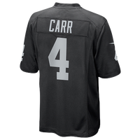 Nike NFL Game Day Jersey - Men's - Derek Carr - Oakland Raiders - Black / White