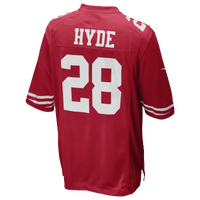 Nike NFL Game Day Jersey - Men's - Carlos Hyde - San Francisco 49ers - Red / White
