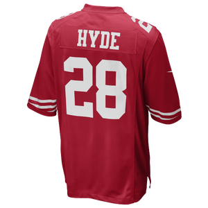 Nike NFL Game Day Jersey - Men's - Carlos Hyde - San Francisco 49ers - Red