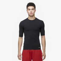 Eastbay EVAPOR Half Sleeve Compression Top - Men's - All Black / Black