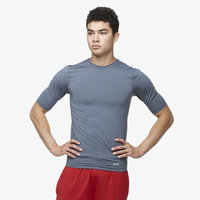 Eastbay EVAPOR Half Sleeve Compression Top - Men's - Grey / Grey