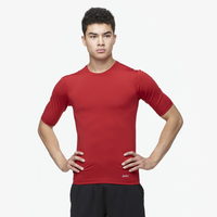 Eastbay EVAPOR Half Sleeve Compression Top - Men's - Red / Red