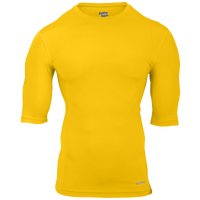 Eastbay EVAPOR Half Sleeve Compression Top - Men's - Gold / Gold