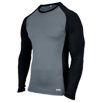 Eastbay Evapor L/S Baseball Compression Top - Boys' Grade School - Black / Grey