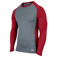 Eastbay Evapor L/S Baseball Compression Top - Boys' Grade School - Red / Grey