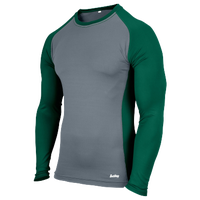 Eastbay Evapor L/S Baseball Compression Top - Boys' Grade School - Dark Green / Grey
