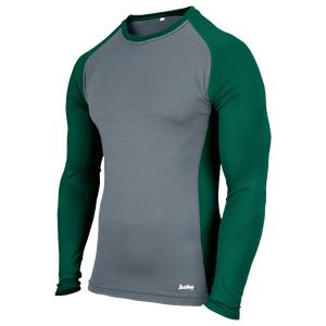 Eastbay Evapor L/S Baseball Compression Top - Boys' Grade School - Grey/Forest Green