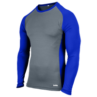Eastbay Evapor L/S Baseball Compression Top - Boys' Grade School - Blue / Grey