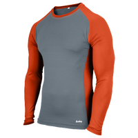 Eastbay Evapor L/S Baseball Compression Top - Boys' Grade School - Orange / Grey