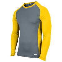 Eastbay Evapor L/S Baseball Compression Top - Boys' Grade School - Gold / Grey