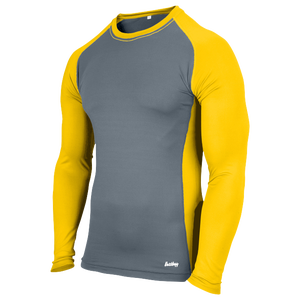 Eastbay Evapor L/S Baseball Compression Top - Boys' Grade School - Grey/Gold