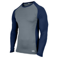 Eastbay Evapor L/S Baseball Compression Top - Boys' Grade School - Navy / Grey