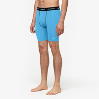 "Eastbay EVAPOR 8"" Compression Shorts 2.0 - Men's - Light Blue / Black"