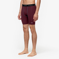 "Eastbay EVAPOR 8"" Compression Shorts 2.0 - Men's - Maroon / Black"