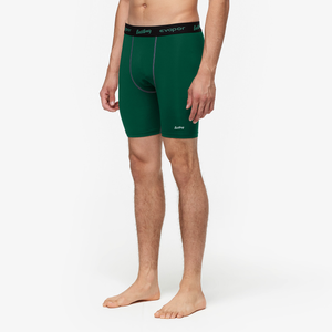 "Eastbay EVAPOR 8"" Compression Shorts 2.0 - Men's - Forest Green"