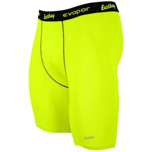 "Eastbay EVAPOR 8"" Compression Shorts 2.0 - Men's - Fierce Yellow"