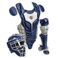 Louisville Slugger Series 5 3-Piece Catcher's Set - Youth - Navy / Grey