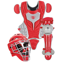 Louisville Slugger Series 5 3-Piece Catcher's Set - Youth - Red / Grey