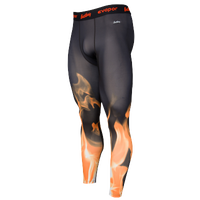 Eastbay EVAPOR Compression Printed Tights 2.0 - Men's - Black / Orange