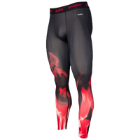 Eastbay EVAPOR Compression Printed Tights 2.0 - Men's - Black / Red