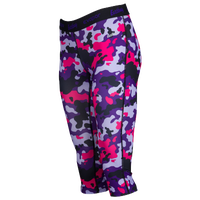Eastbay EVAPOR Compression Capris - Women's - Purple / Pink