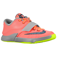 Nike KD 7 - Boys' Preschool - Kevin Durant - Orange / Grey