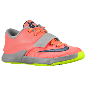 Nike KD 7 - Boys' Preschool - Bright Mango/Light Magnet Grey/Volt/Space Blue