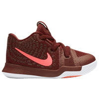 Nike Kyrie 3 - Boys' Toddler - Maroon / Red