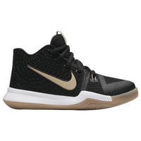 Nike Kyrie 3 - Boys' Preschool -  Kyrie Irving - Black / Gold