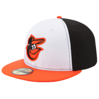 New Era MLB 59Fifty Authentic Cap - Men's - Baltimore Orioles - Black / White