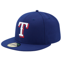 New Era MLB 59Fifty Authentic Cap - Men's - Texas Rangers - Blue / White
