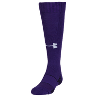 Under Armour Team Over the Calf Socks - Youth - Purple / Purple