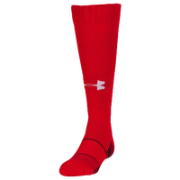 Under Armour Team Over the Calf Socks - Grade School - Red / Black