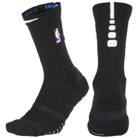Nike NBA Elite Quick Crew Socks - NBA League Gear - Black / White
