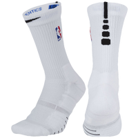 Nike NBA Elite Quick Crew Socks - NBA League Gear - White / Black