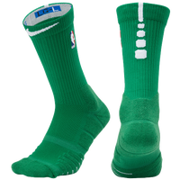 Nike NBA Elite Quick Crew Socks - NBA League Gear - Green / White
