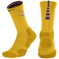 Nike NBA Elite Quick Crew Socks - NBA League Gear - Gold / Purple