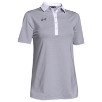 Under Armour Team Clubhouse Polo - Women's - White / Grey