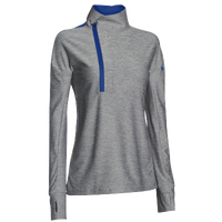 Under Armour Team Hotshot 1/2 Zip - Women's - Grey / Blue