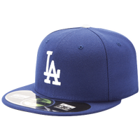 New Era MLB 59Fifty Authentic Cap - Men's - Los Angeles Dodgers - Blue / Blue