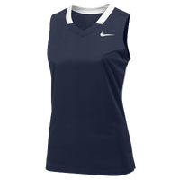 Nike Team Face-Off Sleeveless Game Jersey - Women's - Navy / White