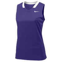 Nike Team Face-Off Sleeveless Game Jersey - Women's - Purple / White