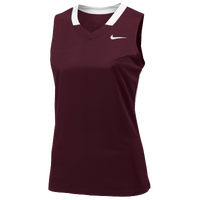 Nike Team Face-Off Sleeveless Game Jersey - Women's - Maroon / White