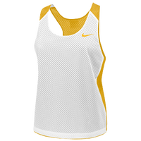 Nike Team Reversible Mesh Tank - Women's - White / Gold