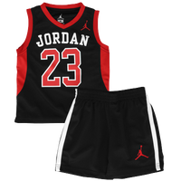 Jordan AJ 23 Mesh Jersey Set - Boys' Toddler - Black / Red