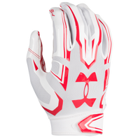 Under Armour F5 Football Gloves - Men's - White / Red